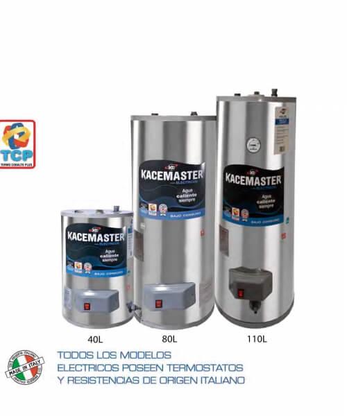 TERMOTANQUE KACEMASTER 40 L. - Electrico - Conexión Superior - Colgar y Apoyar - C/Proteccion TCP - 1500w