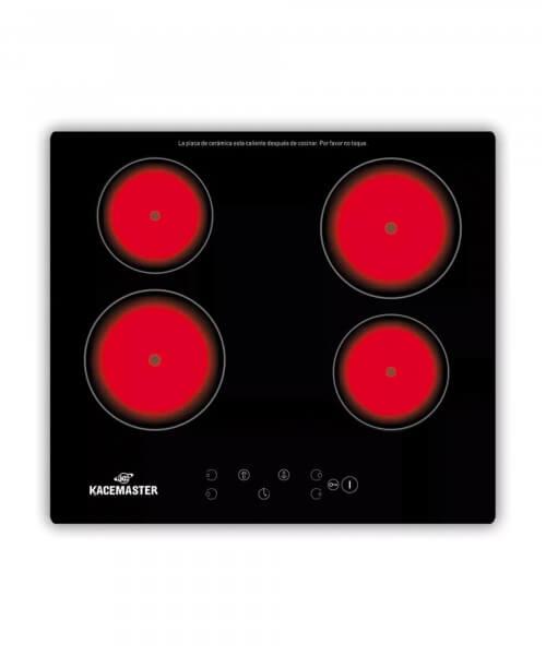 ANAFE ELECTRICO KACEMASTER 4 HORNALLAS / CALENTADOR - EMPOTRABLE - Control Tactil