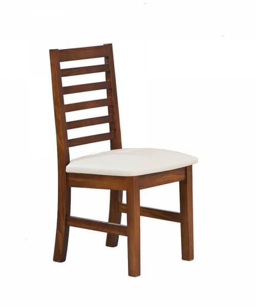 Silla con asiento tapizado en Jackard de 0,99m alto x 0,50m ancho x 0,48m profundidad