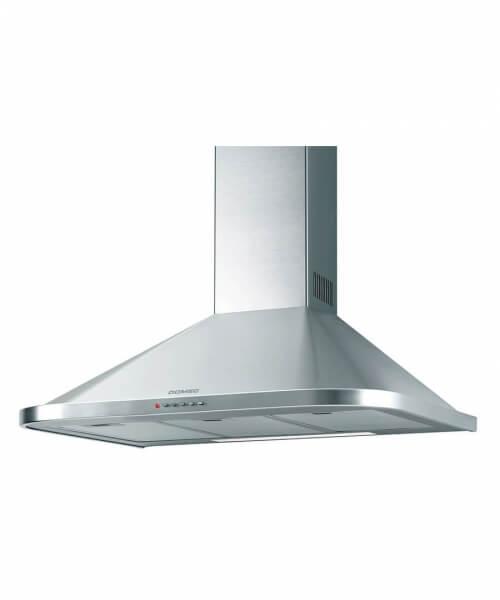 CAMPANA  KP90X 90 cms., Frente recto, 3 velocidades, luz, aspirante, filtros metalicos, acero inoxidable