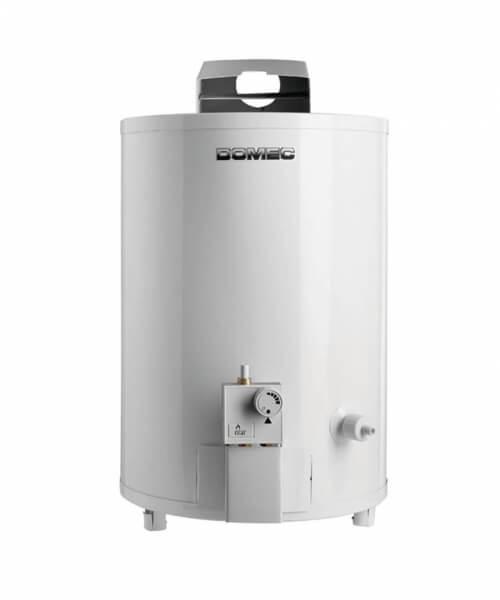 TERMOTANQUE  TH6-50L  Gas Envasado, 50 litros, de pie, conexión superior, sensor detector de gases, blanco