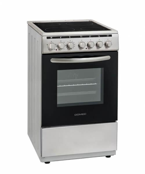 COCINA ELECTRICA CEX66 50 cms,. Vitrocerámico, timer, termostato, grill en horno, puerta doble vidrio, calienta platos